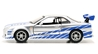 Brians Nissan Skyline GT-R R34 - 2 Fast 2 Furious 2003 -Scale is approximate (1:32)