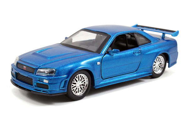 Brian's Nissan Skyline GT-R R34 - Fast and Furious 2009 -Scale is approximate (1:32)