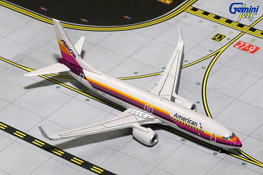 American Airlines B737-800 with Sharklets, AIRCAL Retro Livery N917NN (1:400) - Preorder item, order now for future delivery
