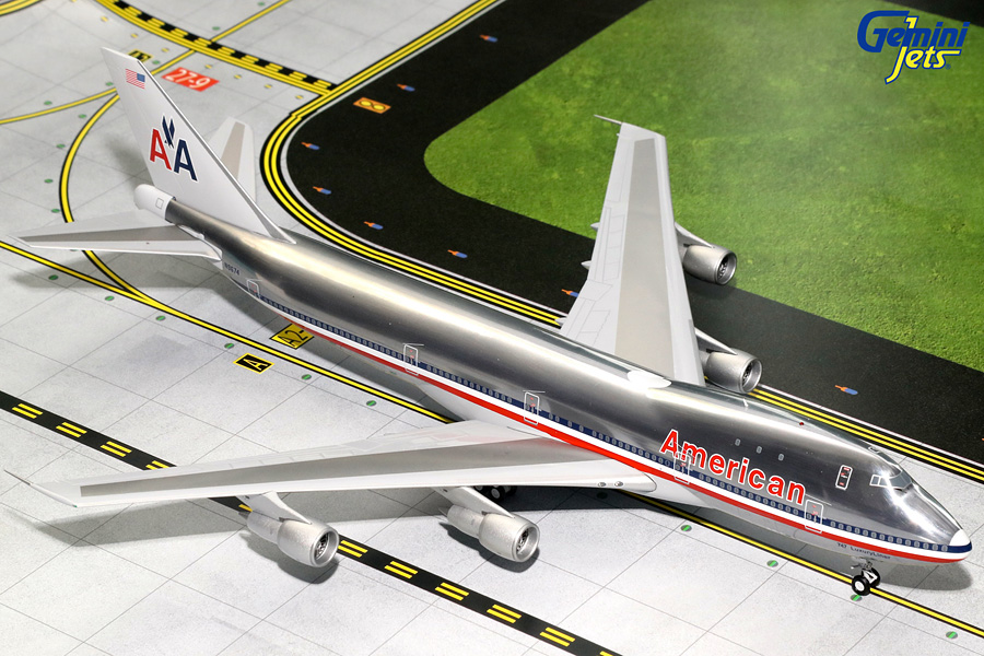 "American Airlines B747-100, Polished ""Luxury Liner"" N9674 (1:200) - Preorder item, order now for future delivery"