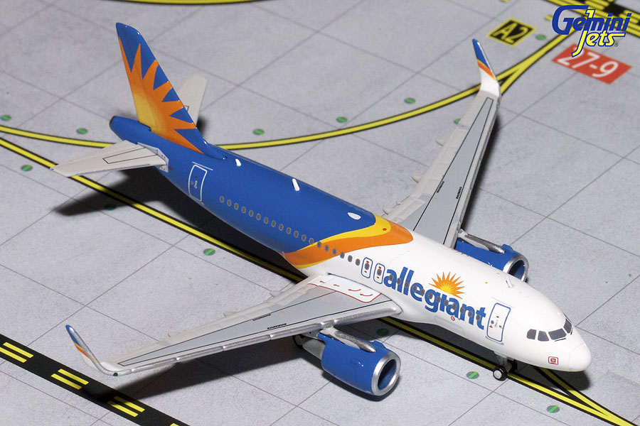 Allegiant A319(S) New Livery, Sharklets) (1:400) - Preorder item, order now for future delivery