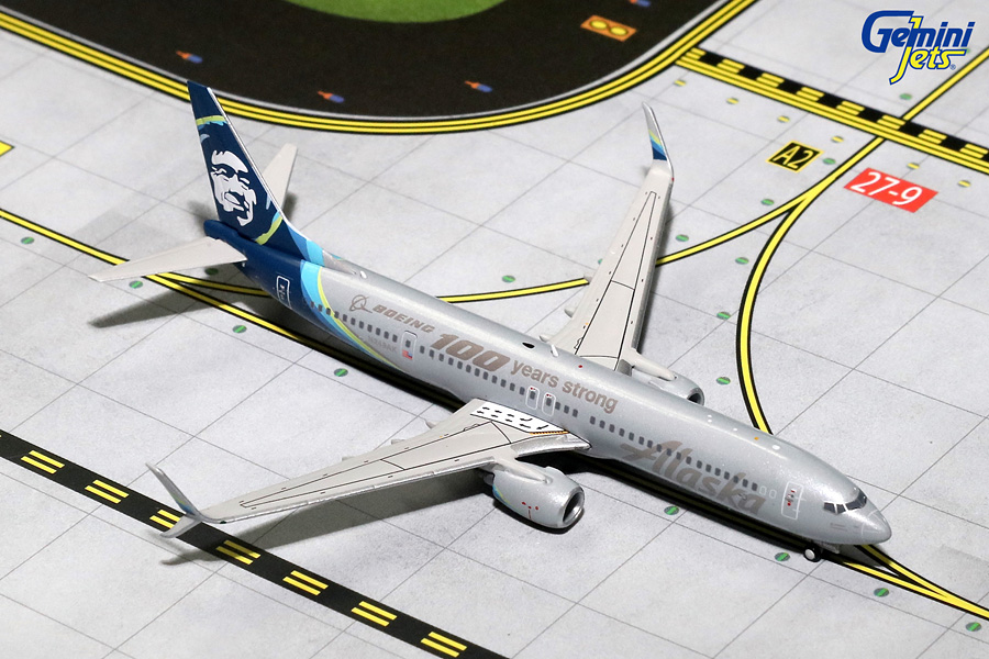 "Alaska B737-900ER with Sharklets, ""100 Years of Boeing"" N248AK (1:400) - Preorder item, order now for future delivery"