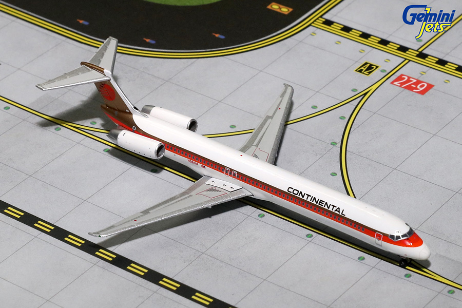 Continental Airlines MD-80 Red Meatball Livery N980IF (1:400) - Preorder item, order now for future delivery