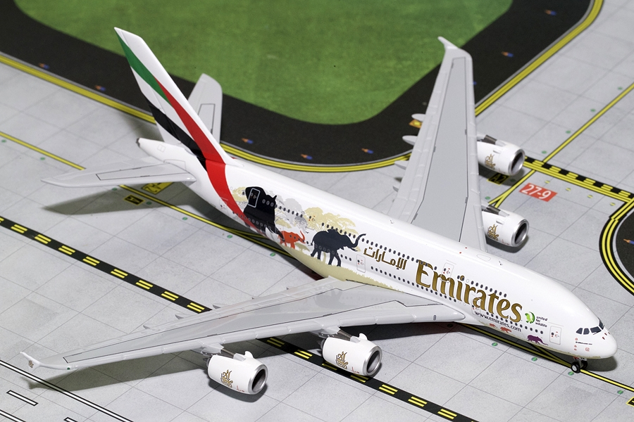 "Emirates A380-800 ""Wildlife #2"" New Logo A6-EER (1:400) - Preorder item, Order now for future delivery"
