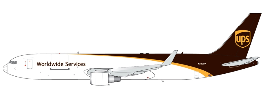 UPS B767-300(W) New Livery N320UP (1:400) - Preorder item, order now for future delivery