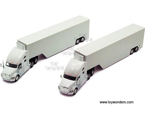 Kenworth T700 Container Truck Semi, White (1:68)