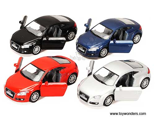 Audi TT Coupe Hard Top 2008, (1:32) scale diecast model car, Assorted Colors.