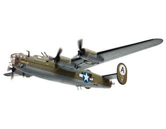 Consolidated B24D-25 Liberator 'Ruth-less' 506th BS/44th BG Shipdham Scale (1:72)