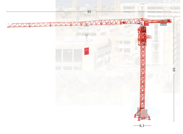 WOLFF 6031 Clear Tower Crane - High Detail One of WOLFFKRAN's largest cranes the 6031 has a maximum jib length of 65 meters. <br> This 1/87 scale WOLFFKRAN accurately represents its real-life counterpart with its detailed and well constructed pre-ass  (1:87)