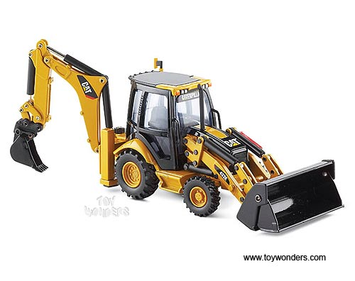 Caterpillar 432E Side Shift Backhoe Loader (1/50 scale diecast model car, Yellow)