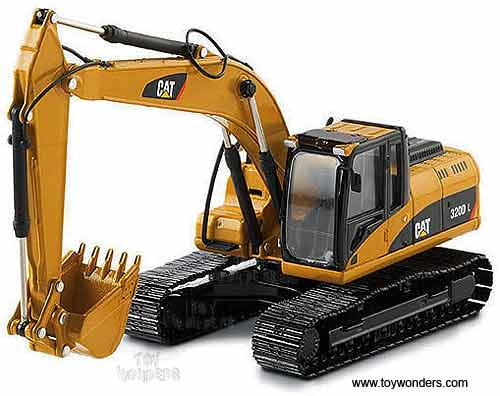 Cat 320D L Hydraulic Excavator (1/50 scale diecast model car, Yellow)