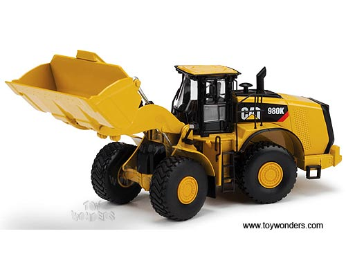 Cat 980K Wheel Loader - Material Handling Configuration (1/50 scale diecast model car, Yellow)