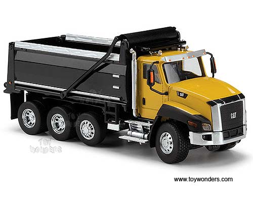 Cat CT660 Dump Truck (1/50 scale diecast model car, Yellow)