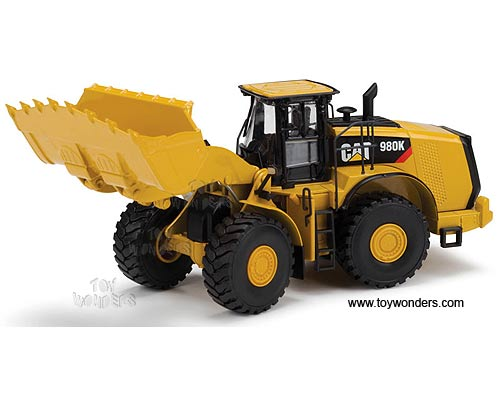 Cat 980K Wheel Loader - Rock Configuration (1/50 scale diecast model car, Yellow)