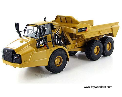 Cat 740B EJ Articulated Truck (1/50 scale diecast model car, Yellow)