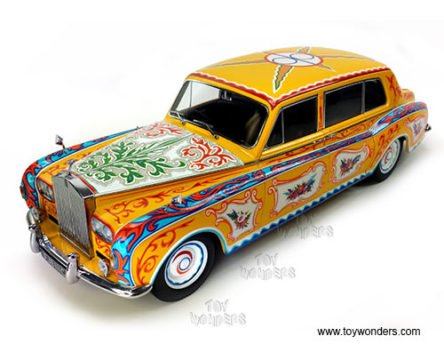 "Rolls Royce Phantom ""Lennon"" Hard Top (1964, 1/18 scale diecast model car, Yellow)"