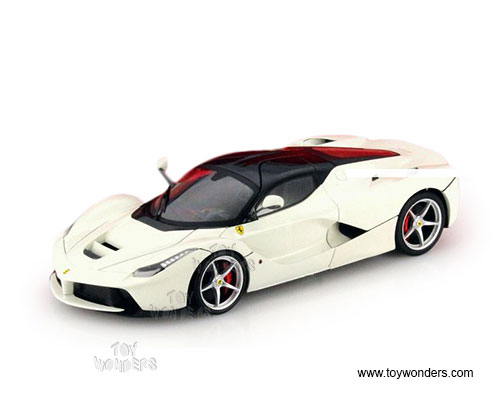LaFerrari Hard Top (1/18 scale diecast model car, White)
