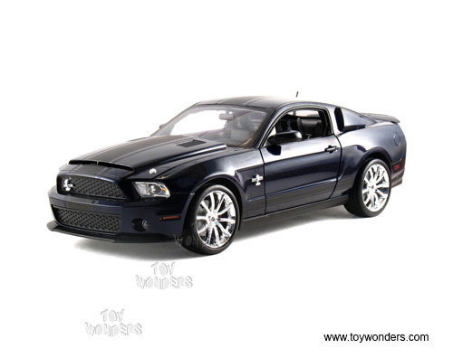 Ford Shelby GT500 Super Snake Hard Top (2010, 1/18 scale diecast model car, Blue w/ Black Stripes)