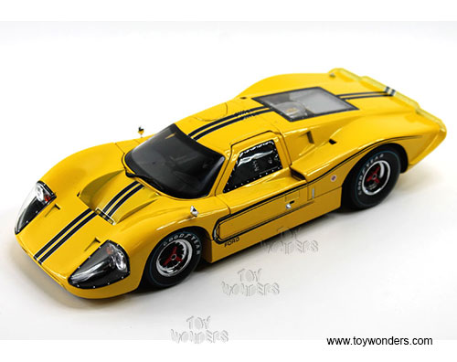 Ford GT MK IV Hard Top (1967, 1/18 scale diecast model car, Yellow/w Black stripes)