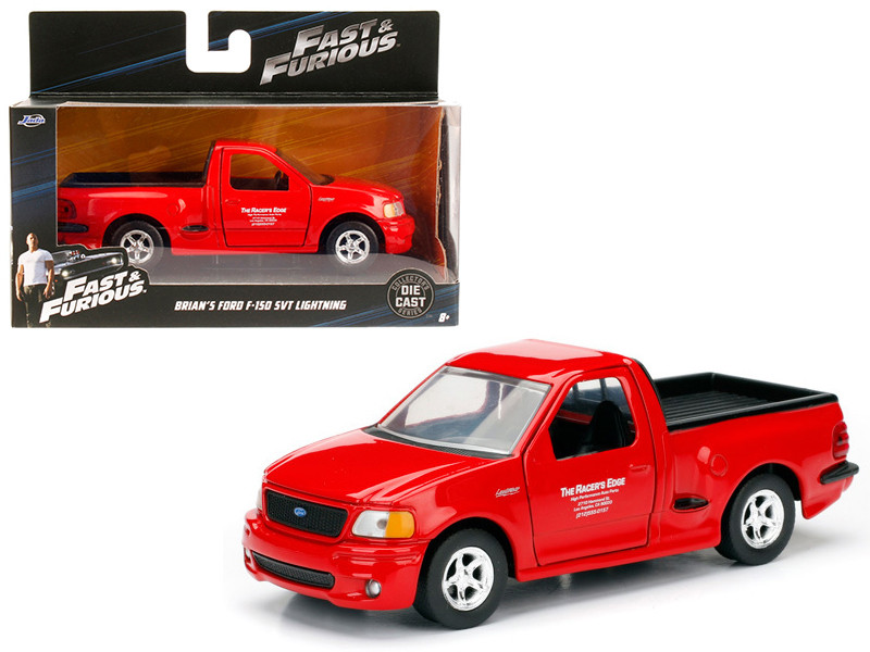 "Brian's 1999 Ford F-150 SVT Lightning Red ""Fast & Furious"" Movie 1/32 Diecast Model Car by Jada"