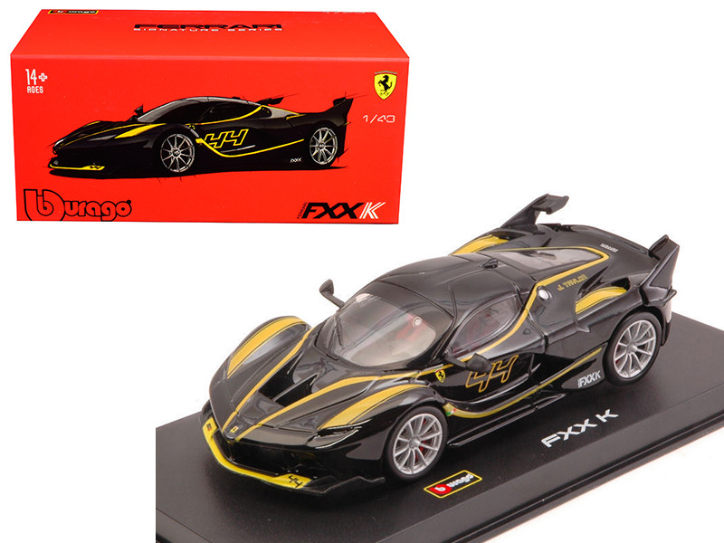 Ferrari FXX-K #44 Black Signature Series 1/43 Diecast Model Car by Bburago