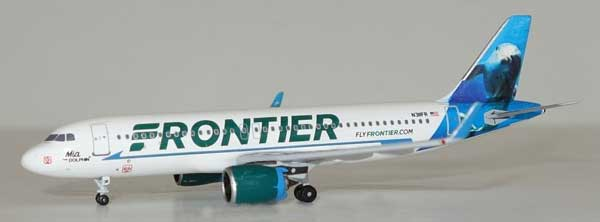 "Frontier Airlines A320-200 N311FR ""Dolphin Tail"" (1:400), AeroClassics Models Item Number AC19293"