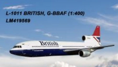 British Airways L-1011 G-BBAF (1:400) by Lochness Airplane Models Item Number: LM419569
