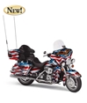 "2008 Harely Davidson Ultra Classic Electra Glide ""Patriotic"" (1:10), Franklin Mint Diecast Vehicles Item Number B11G308"