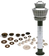 Airport Tower Set (1:500), Herpa 1:500 Scale Diecast Airliners Item Number HE519670