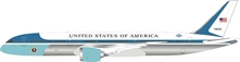 USAF Boeing 787-9 Air Force One 78000 polished (1:200) Fantasy Model - Preorder item, Order now for future delivery, InFlight 200 Scale Diecast Airliners Item Number B-USAF-789-01P