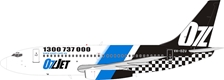 OzJet Boeing 737-200 VH-OZU (1:200) - Preorder item, Order now for future delivery , InFlight 200 Scale Diecast Airliners Item Number IF732072018