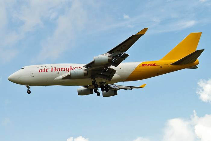 "Air Hong Kong B747-400(BCF) ""DHL Tail"" B-HUR (1:400)"