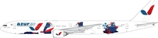 "Azur Air B777-300ER ""The Bears"" VQ-BZY (1:400) - , Phoenix 1:400 Scale Diecast Aircraft, Item Number PH4KTK1827"