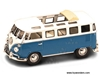 Volkswagen Microbus w/ Open Roof (1962, 1:43, Blue & White) 43208