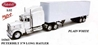 White Peterbilt 379 with White Dry Van Trailer (1:32), New Ray Diecast Item Number NR14363