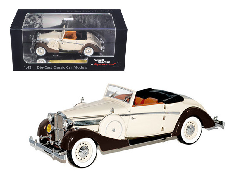 1937 Maybach SW38 Spohn 2 Doors Tan Convertible (1:43)