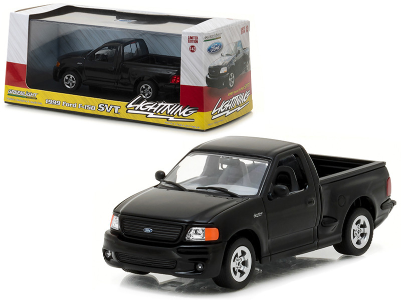 1999  Ford F-150 SVT Lightning Pickup Truck Black 1/43 Diecast Model Car by Greenlight