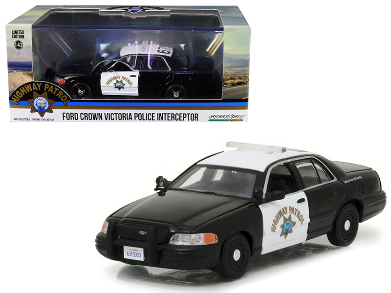 Ford Crown Victoria Police Interceptor Car California Highway Patrol (CHP) 1/43 Diecast Model Car by Greenlight
