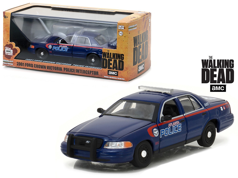 "2001 Ford Crown Victoria Atlanta Police Interceptor ""The Walking Dead"" (2010-Current) TV Series 1/43 Diecast Model Car by Greenlight"