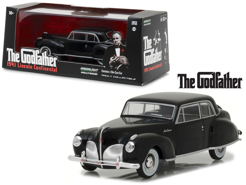 "1941 Lincoln Continental Black ""The Godfather"" Movie (1972) 1/43 Diecast Model Car by Greenlight"