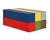40ft Containers 6-Piece (1:87, HO), Kibri Item Number KBR10922