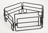 Cattle Panels with Gate in Black - 5-piece Set (1:16)