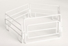 Cattle Panels with Gate in White - 5-piece Set (1:16)