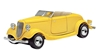 1934 Ford Convertible in Yellow 1:24 by Motor Max Item Number: MMX73218AC-Y