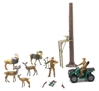 Wild Deer Hunting Play Set Includes:  Deer, ATV, Hunters ,Tree Stand