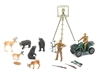 Wild Bear Hunting Play Set Includes: Deer, Bears, ATV, Hunters, Tree Stand