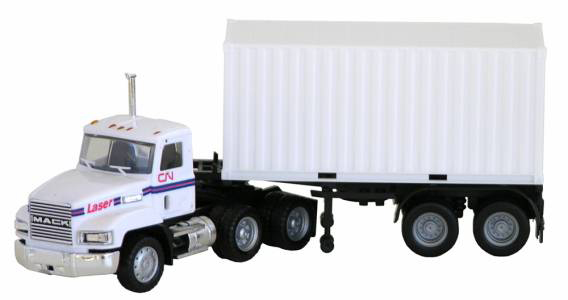 Mack 603 Tractor with Container Chassis and 20' Container (1:87), Promotex Item Number PRX006468