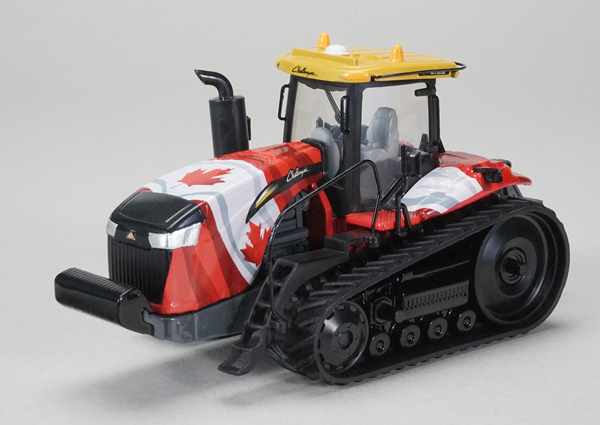 Challenger MT865E Tracked Tractor with Canadian Flag Graphics (1:64)