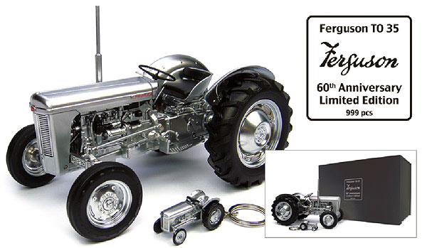 Ferguson TO35 Tractor - 60th Anniversary Edition with Presentation Box and Key Ring (1:16), Universal Hobbies, Item Number UHB4862