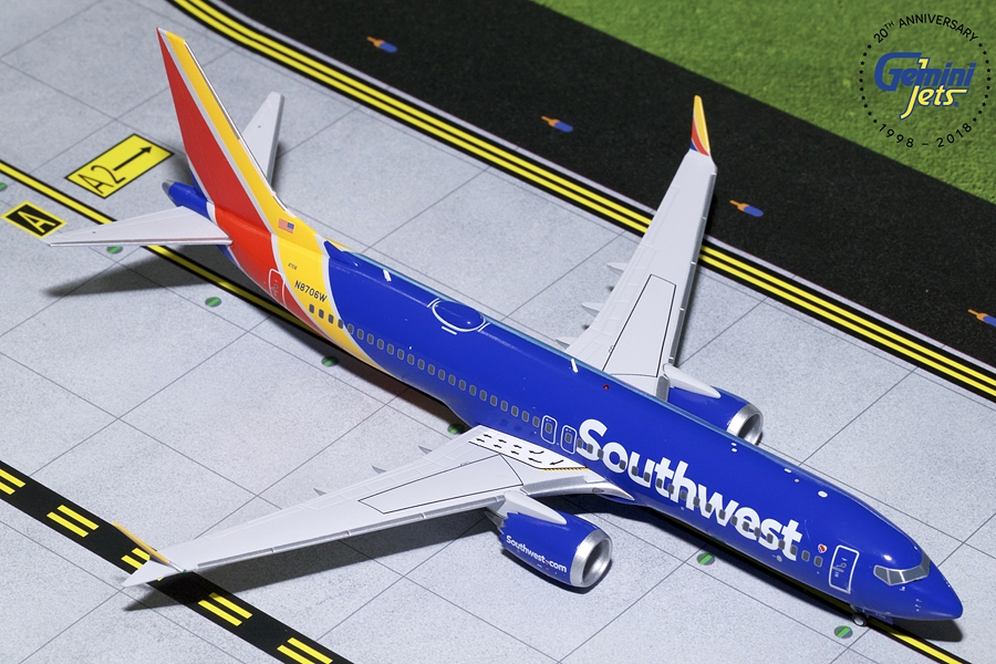 Southwest B737 MAX-8 N8706W (1:200) - Preorder item, order now for future delivery
